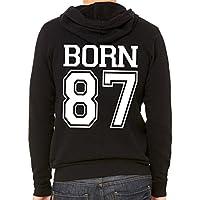 Personalisierte Herren Sweatjacke mit Geburtsjahr Sweatshirt Hoodie
