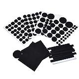 WINOMO 132pcs sistemas muebles piso Protector fieltro cojines para muebles (negro)