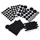NUOLUX Coussinets de feutre meubles tapis protecteur Pad couvrent 132 ensembles (noir)