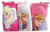 Disney Frozen Die Eiskönigin Anna und ELSA Slip 3'er Pack Mädchen Unterhose Unterwäsche 100% Baumwolle (116-128 (6-8))