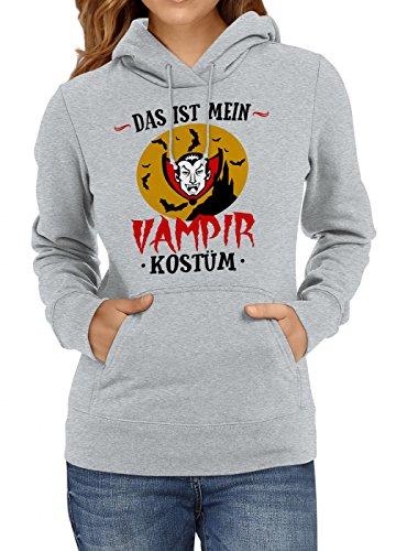 m Vampir Premium Hoody | Verkleidung | Karneval Hoodies | Fasching | Frauen | Kapuzenpullover, Farbe:Graumeliert;Größe:XXL (Günstige Vampir Kostüme Für Frauen)