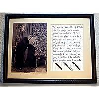 Départ en retraite du médecin ou docteur avec photo ancienne et texte écrit à la plume