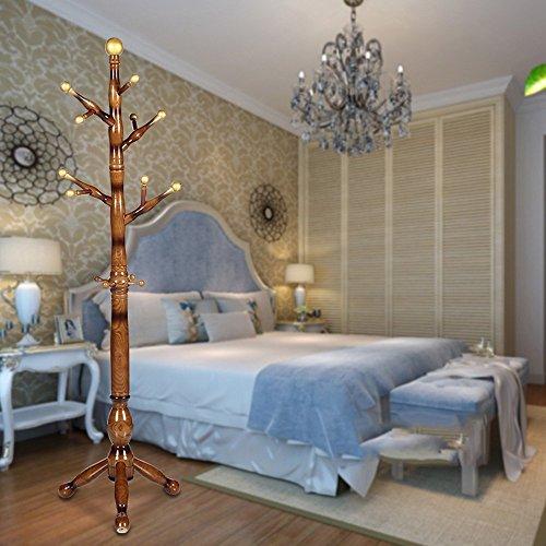 Aufhänger XIAOYAN Moderne Haushalt Hut Rack Multifunktions zusammenklappbar Mode Kleidung Hut Rack Buche Stange typ Kleiderbügel 180 * 47 cm (Farbe : ()