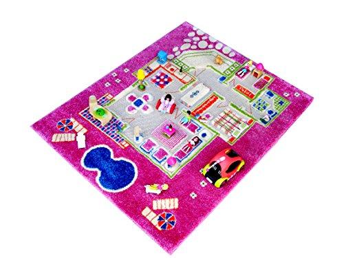 IVI Tapis et tapis de jeu enfant Hypoallergénique (100x 80x 100cm, petit, rose)