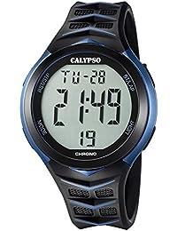 Calypso Montre homme Digital for Man digital Quartz bracelet plastique PU noir UK5730/2