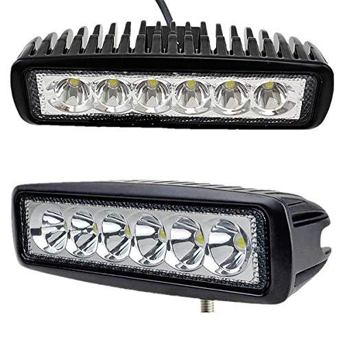 Preisvergleich Produktbild Hengda Arbeitsleuchte 18W LED Offroad Spotlight Flutlicht Zusatzscheinwerfer Reflektor IP67 Wasserdicht 1620LM Weiß 10-30V DC (2 Stück) [Energieklasse A++]