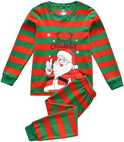 Jungen Schlafanzüge Kinder Pjs Setzt 100% Baumwolle Kleinkind Pajamas Alter von 2-7 Jahren (Fröhliche Weihnachten, 4 Jahre)