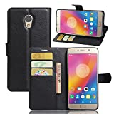 Excelsior Premium Leather Wallet Flip Cover Case For Lenovo P2 (Inner TPU) - Black