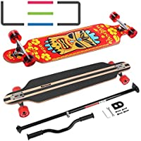 MARONAD Longboard Skateboard drop through Race Cruiser ABEC-11 Skateboard 104x24cm Streetsurfer skaten FUN
