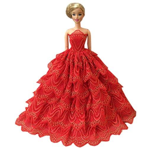 Black Temptation Schöne Prinzessin-Hochzeits-Kostüm-Partei-Abend-Kleid-Puppen-Kleid-Oben Kostüm-Geschenk-Idee, C