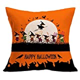 VEMOW Halloween Party Dekoration Kissenbezug Sofa Taille Mode Werfen Kissenbezug Home Decor(Gelb 7, 45cm*45cm)