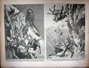 Armée Italienne Alpine de Forêt de Verdun En Bois de WW1 1916 VOSGES