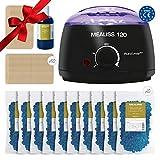 Waxing Kit Wachs Mealiss 120 DELUXE XXL - Brazilian Waxing-Set - Profi Wachswärmer 120 Watt, 1 kg Brazilian Wax, 70 Wachs-Spatel, 250 ml Pflege-Öl - 1 Jahr Heisswachs-Epilation 2,60