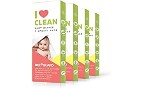 Sirona Baby Diapers and Sanitary Disposal Bag - 15 Pieces (Pack of 4)