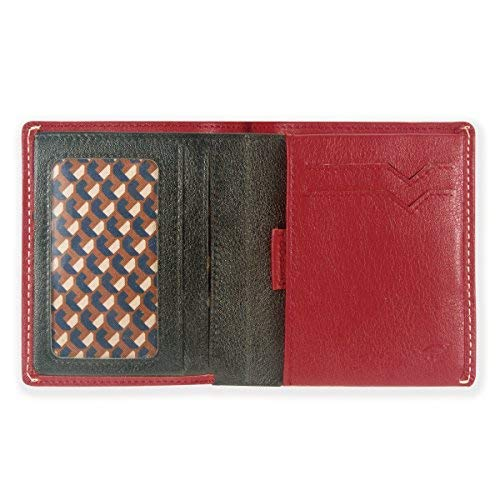 IKEPOD Slim Carry Men Bifold Wallet (8 Color) Italy Leather RFID Front Pocket Billfold with ID Window -