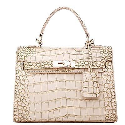 NEW crocodile Grain Platine Patchwork Sacs femmes sac à main Fashion Étui à rabat en cuir véritable marque de haute qualité bureau Mesdames Sacs bandoulière