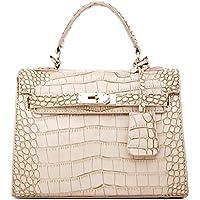 Platinum-coccodrillo Pu in vera pelle da donna, alla moda, per patchwork, alta qualità, motivo brand-Borsa a tracolla da donna