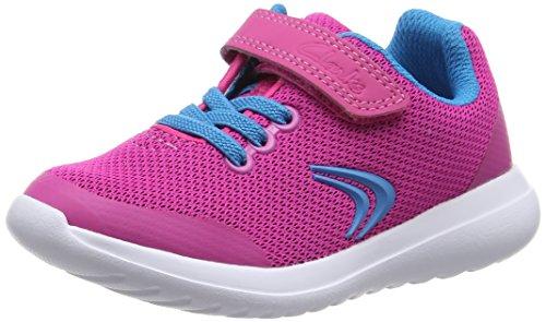 Clarks Kids Sprintzone Inf, Baskets Basses fille Rose (Pink Combi)