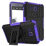 XITODA Galaxy Tab A6 7.0 Case,Hülle für Samsung Tab A 7 Hybrid Armor Cover Tough Tasche Tablet Case für Samsung Galaxy Tab A 7.0 Zoll 2016 (SM-T280/T285) Tablet Schutzhülle mit Kickstand - Lila
