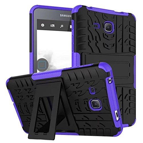 XITODA Galaxy Tab A6 7.0 Case,Hülle für Samsung Tab A 7 Hybrid Armor Cover Tough Tasche Tablet Case für Samsung Galaxy Tab A 7.0 Zoll 2016 (SM-T280/T285) Tablet Schutzhülle mit Kickstand - Lila - Tab Case Samsung 2 Galaxy Lila