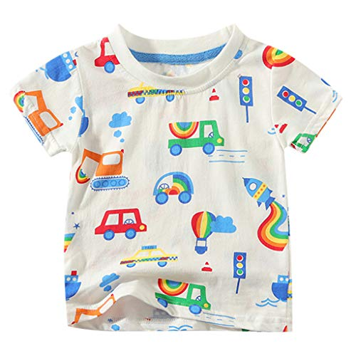 YpingLonk ♥ Jungen-Mädchen-Kinderkurzschluss-Hülsen-Karikatur druckte Oberseiten-T-Shirt Kleidung qualifizierte Spitzendesign Prinzessinkleid