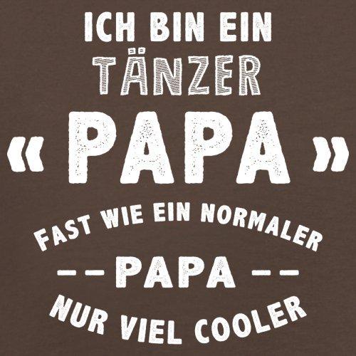 Ich bin ein Tänzer Papa - Herren T-Shirt - 13 Farben Schokobraun