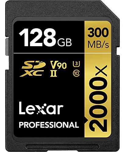 Lexar Professional 2000x SDXC UHS-II Karten 128GB [Umweltfreundliche Verpackung]