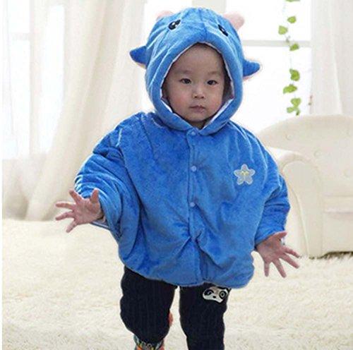 Baby-Cloak mit Schal Babydecken Zwölf Constellations Babymantel Blau Steinbock