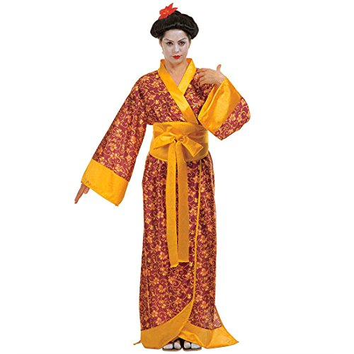 Geisha Kostüm Kimono China Verkleidung Asiatin Asia Party Geishakostüm Japanerin Gr L 42/44