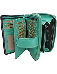 d740a63a020f6 LT LadiesTrends Design Damen Geldbörse von Franko Geldbeutel Elegant  Portmonee XL Portemonnaie aus Weichem Leder Damenbörse Wallet…