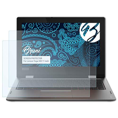 Bruni Schutzfolie kompatibel mit Lenovo Yoga 330 11 inch Folie, glasklare Bildschirmschutzfolie (2X)