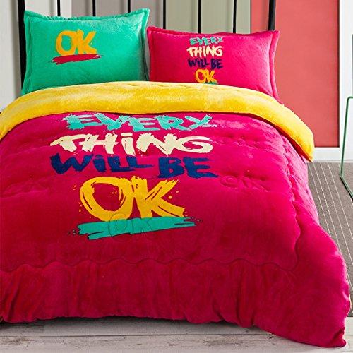 MMM Plus épais Garder une couette d'hiver chaleureuse Chambre des dortoirs d'étudiants Double couchette ( Couleur : #1 )