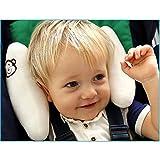 Inchant réglable Baby Soft Head Neck Support enfants enfants en bas âge Voyage voiture de sécurité Coussin Coussin de siège Forme Banane - Blanc