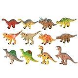 Jurassic dinosaurios World juguete, 12pcs Mini plástico simulación dinosaurios juguete Set, realista aspecto plástico grandes dinosaurios surtidos con libro para niños