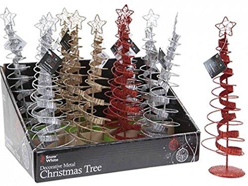 '10stelle a spirale Top rosso argento oro Metal decorazione di Natale alberi di Natale