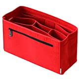 Classic Slash Organisateur de Sac a Main Speedy 30, 35 Neverfull MM I Organiseur Femme - Bag Organizer - Bag in Bag - Feutre - Rouge - Grand