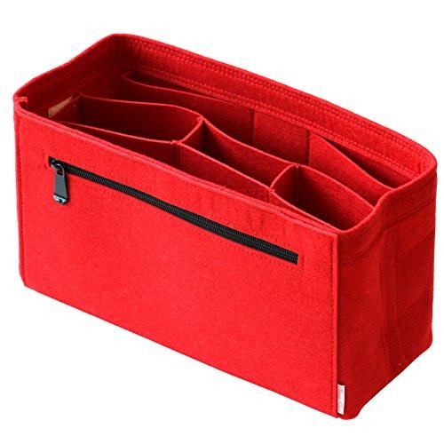 Classic Slash Taschenorganizer Filz für Speedy 30 Neverfull MM Large für Taschen ab 30cm Innenmaß I Rot