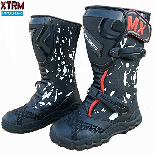 XTRM - Stivali rinforzati da bambino Pro Star, ideali per motocross, pit bike, quad, 2016