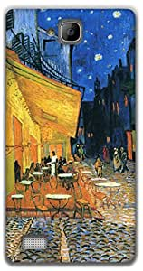 The Racoon Lean Cafe at night - Van Gogh hard plastic printed back case / cover for Huawei Honor 3C