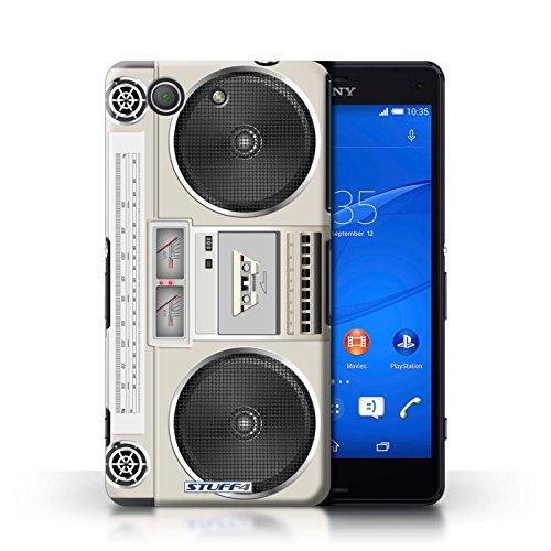 Kobalt® Imprimé Etui / Coque pour Sony Xperia Z3 Compact / Cassette Vidéo VHS conception / Série Retro Tech Boombox