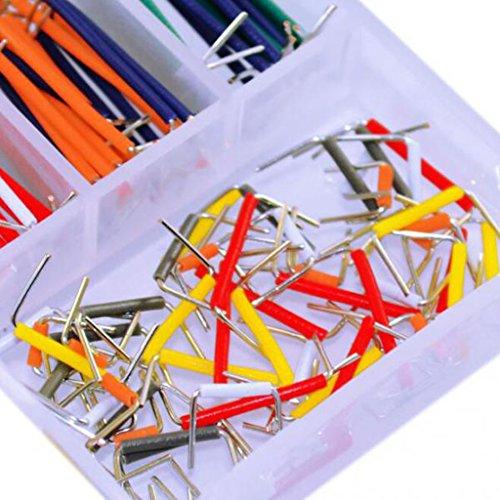 Gazechimp 140 Stück Platine Jumper Kabel Draht Kit mit Aufbewahrungbox - 5