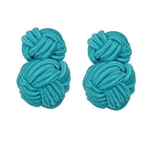 HONEY BEAR Boutons de Manchette de Noeud de Soie de Tissu des Hommes/Femme Chemise/Robe,Rond pour Le Cadeau de Mariage Affaires