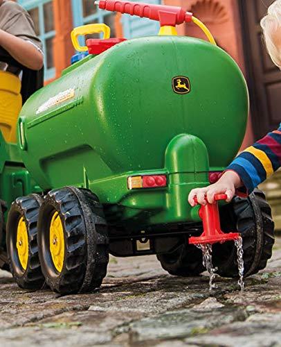 Rolly Toys 122752 rollyTanker John Deere | Fassanhänger voll funktionsfähig | Tankwagen inkl. Pumpe, mit Spritze und Auslaufhahn | für Kinder ab 3 Jahren | Farbe grün | TÜV/GS geprüft - 3