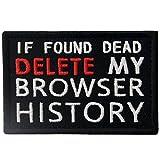 Si se encuentra muerto, elimine el historial de mi navegador Broche Bordado de Gancho y Parche de Gancho y bucle de cierre