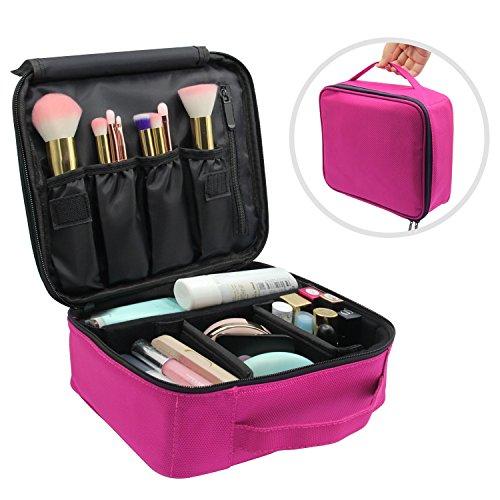 Porta Trucchi,Vococal Grande Regolabile Beauty Case Borsa Professionale per il Trucco Valigetta per Trucchi Travel Cosmetici Case (Rosa)
