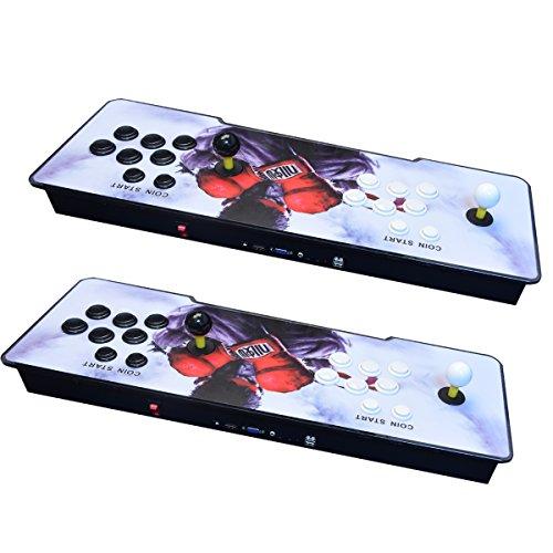 [Inglés]Consola de videojuegos,  Arcade Machine 1299 juegos clásicos,  2 jugadores Pandora s Box 5S multijugador Home Arcade consola 1299 juegos todo en 1 non- Jamma PCB doble Stick nuevo diseño