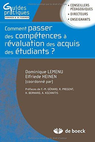 Comment passer de la formulation des compétences à l'évaluation des acquis des étudiants : Guide méthodologique pour une approche programme dans l'enseignement supérieur
