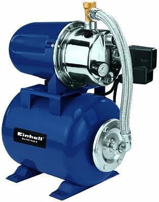 Einhell BG-WW 1038 N Hauswasserwerk-Set, 1000 Watt, 3800 l/h Fördermenge, inkl. Gartenspritze und 4 m Saugschlauch von Einhell