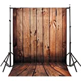 DODOING 5X7ft Wooden Wall Floor Vinyl Fabric Photography Backdrops Photo Studio Background Studio Props