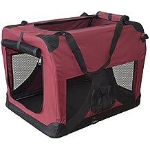 Hundetransportbox Hundebox faltbar Transportbox Autotransportbox Faltbox Transportasche 501-D02 Farbe: marrone, Grösse: L - 70cm x 52cm x 52cm